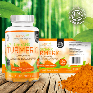 Organic Turmeric and Organic Black Pepper blended supplement